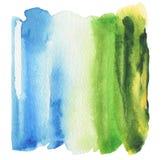 Abstrakcjonistyczna akrylowa i akwarela malująca rama Zdjęcie Stock