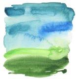 Abstrakcjonistyczna akrylowa i akwarela malująca rama Fotografia Stock