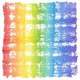 Abstrakcjonistyczna akwarela Crosshatched tęczy rama Zdjęcie Royalty Free
