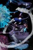 Abstrakcjonistyczna akwarela lubi tło Zdjęcie Royalty Free