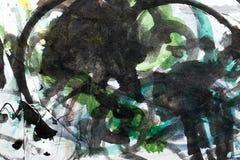 Abstrakcjonistyczna akwarela lubi tło Obrazy Stock