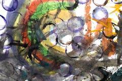 Abstrakcjonistyczna akwarela lubi tło Fotografia Royalty Free