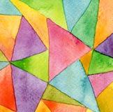 Abstrakcjonistyczna akwarela malujący geometryczny deseniowy tło Zdjęcie Royalty Free