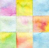 Abstrakcjonistyczna akwarela malujący tło Fotografia Stock