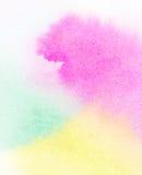Abstrakcjonistyczna akwarela malujący tło Zdjęcia Royalty Free
