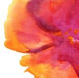 Abstrakcjonistyczna akwarela malujący tło Zdjęcia Stock