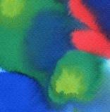 Abstrakcjonistyczna akwarela malujący tło Fotografia Royalty Free