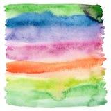 Abstrakcjonistyczna akwarela malujący tło. Obrazy Stock