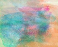 Abstrakcjonistyczna akwarela malujący tło z szczegółami Zdjęcie Royalty Free