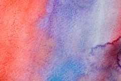 Abstrakcjonistyczna akwarela malujący tekstury tło ilustracja wektor
