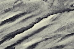 Abstrakcjonistyczna akwarela na papierowej teksturze jako tło W Sepiowej tonie Obraz Royalty Free