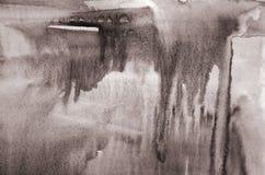 Abstrakcjonistyczna akwarela na papierowej teksturze jako tło W Sepiowej tonie Obraz Stock