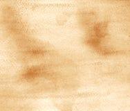 Abstrakcjonistyczna akwarela na papierowej teksturze jako tło W Sepiowym Obrazy Royalty Free