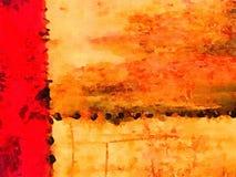 Abstrakcjonistyczna akwarela na papierze Zdjęcia Stock
