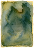 Abstrakcjonistyczna akwarela Odizolowywająca Grunge rama (Highres) Fotografia Royalty Free