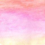 Abstrakcjonistyczna akwarela textured tło Textured wody chmura Wewnątrz Obraz Stock
