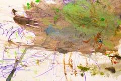 Abstrakcjonistyczna akwareli farba mokra na papierze Obraz Stock