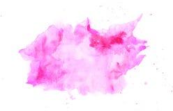 Abstrakcjonistyczna akwareli menchii plama Zdjęcia Royalty Free