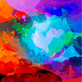 Abstrakcjonistyczna akwareli paleta ilustracja wektor