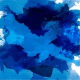 Abstrakcjonistyczna akwareli paleta błękitni kolory, royalty ilustracja