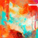 Abstrakcjonistyczna akwareli paleta folwarczka kolor, Obrazy Royalty Free