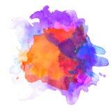 Abstrakcjonistyczna akwareli paleta folwarczka kolor, Zdjęcie Royalty Free