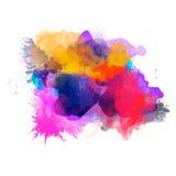 Abstrakcjonistyczna akwareli paleta folwarczka kolor, ilustracji