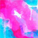 Abstrakcjonistyczna akwareli paleta folwarczka kolor, Obraz Royalty Free