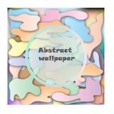 Abstrakcjonistyczna akwareli paleta mieszanka kolor, tło, wektorowa ilustracja, mikstur plamy z kiścią woda royalty ilustracja