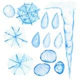 Abstrakcjonistyczna akwareli wolnej ręki ilustracja odizolowywająca royalty ilustracja