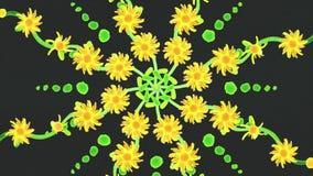 Abstrakcjonistyczna animacja formacja kwiaty Piękna animacja formacja kolory dla twój projekta ilustracji