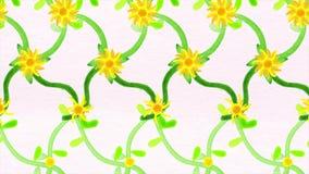 Abstrakcjonistyczna animacja formacja kwiaty Piękna animacja formacja kolory dla twój projekta ilustracja wektor