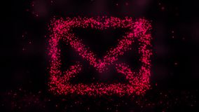 Abstrakcjonistyczna animacja wiadomość znak Futurystyczna formacja wiadomość od punktów royalty ilustracja