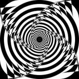 Abstrakcjonistyczna Arabeskowa Hipnotyczna celu pojęcia Spyral perspektywa royalty ilustracja