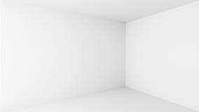 Abstrakcjonistyczna architektura. Pusty biały pokoju wnętrze royalty ilustracja
