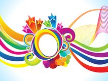 Abstrakcjonistyczna artystyczna kreatywnie kolorowa fala wybucha Zdjęcie Royalty Free