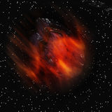 Abstrakcjonistyczna asteroida Fotografia Royalty Free