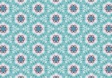 Abstrakcjonistyczna błękit menchii kwiatu wzoru tapeta Obrazy Stock