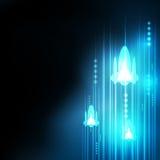 Abstrakcjonistyczna błękit rakiety technologia ilustracji