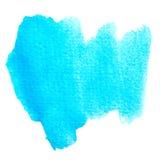 Abstrakcjonistyczna błękitna akwarela malujący brushwork tło. ilustracja wektor