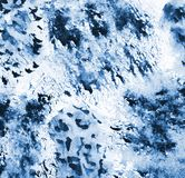 Abstrakcjonistyczna błękitna akwarela na papierowej teksturze jako tło Obraz Stock