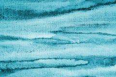 Abstrakcjonistyczna błękitna akwarela na papierowej teksturze jako tło Christm Obrazy Stock