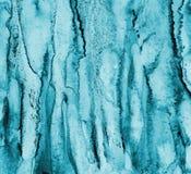 Abstrakcjonistyczna błękitna akwarela na papierowej teksturze jako tło Christm Fotografia Stock