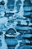 Abstrakcjonistyczna błękitna akwarela na papierowej teksturze jako tło Christm Zdjęcie Royalty Free