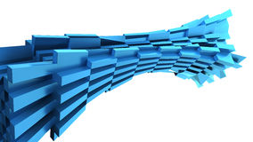 Abstrakcjonistyczna błękitna dynamiczna cegła Zdjęcia Royalty Free