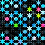 Abstrakcjonistyczna błękitna grunge gwiazda bezszwowa Fotografia Stock