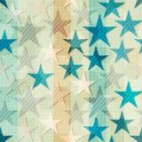 Abstrakcjonistyczna błękitna gwiazda bezszwowa Zdjęcie Royalty Free