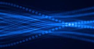 Abstrakcjonistyczna błękitna narastająca jaskrawa wiązka światłowodu tło, postu lekki sygnał dla wysokiego prędkość interneta ilustracji