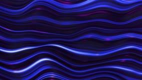 Abstrakcjonistyczna błękitna neonowa fala linia segregująca ilustracja wektor