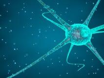 Abstrakcjonistyczna błękitna nerw komórka royalty ilustracja